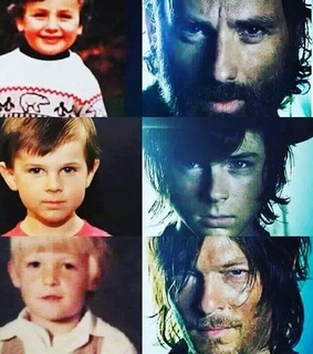 andrew lincoln, babys and chandler riggs