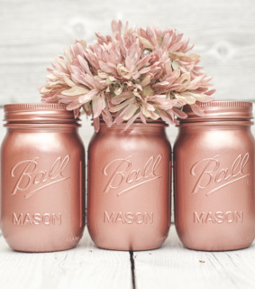 flower, mason jars and minimal