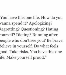 apologizing, brave and diet