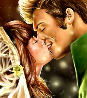 annie, finnick and kiss