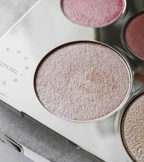 becca, glow and highlight