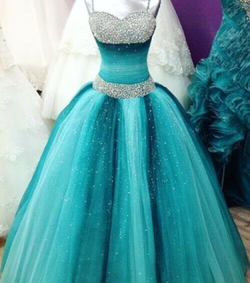 ball dress, blue and cute