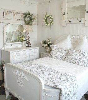 bedroom, chic and cottage