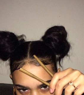 asian girls, chopsticks and fake eyelashes