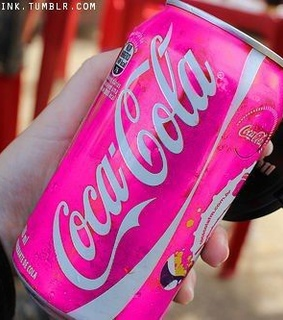 coca-cola and pink