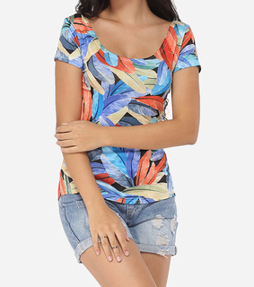 cotton, printed and t-shirt