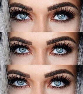 blue eyes, eye makeup and eyebrows