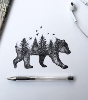 art, bear and beatiful