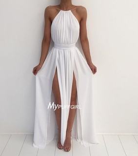 formal gown, halter and maxi dress