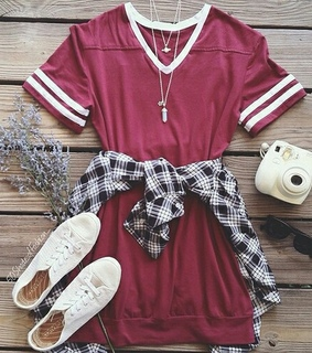 fashion, look and red