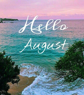 august, beach and hello