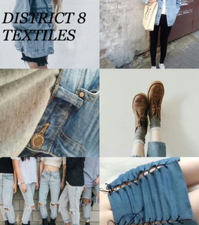 aesthetic, district 8 and the hunger games
