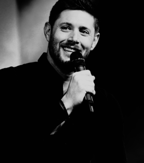 black and white, jensen ackles and supernatural