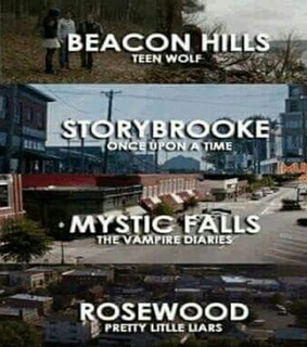 mystic falls, once upon a time and pretty little liars