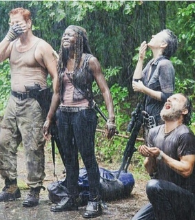 carol, michonne and rick grimes