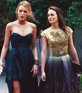 best friends, blair and serena and blake and leighton