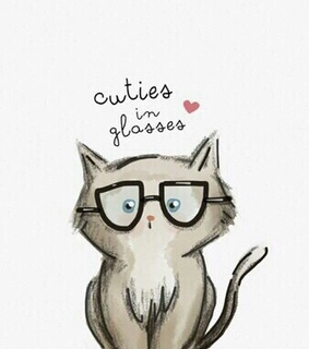 awh, cat and glasses