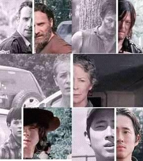 carl, carol and daryl