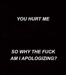 apologizing, black and black and white