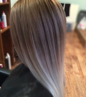 ash blonde, blonde and gray