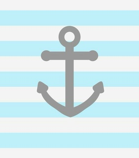 anchor, baby blue and blue
