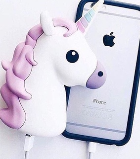 charger, iphone and unicorn