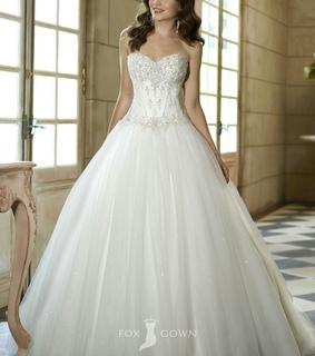 ball gown, bride and dress