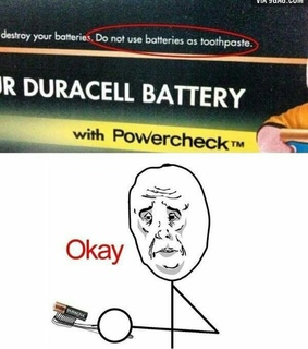 battery, funny and toothpaste