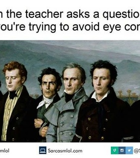 avoid, class and eye contact