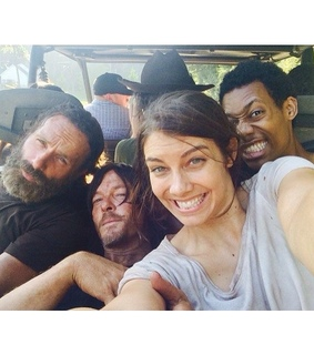 andrew lincoln, behind the scenes and lauren cohan