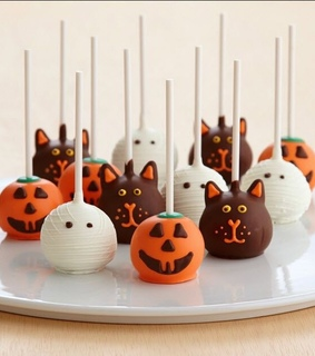 autumn, cake and cake pops