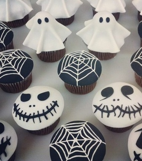 black, cupcakes and food