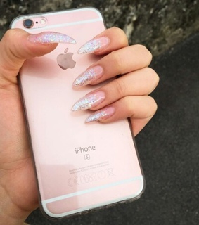 girl, glitter and iphone