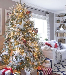 christmas, christmas decorations and country house