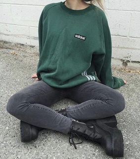 adidas, green and jeans