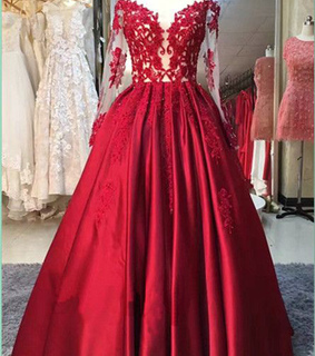 prom dress, red prom dress and sexy prom dresses