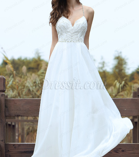 beaded, bridal dress and lace