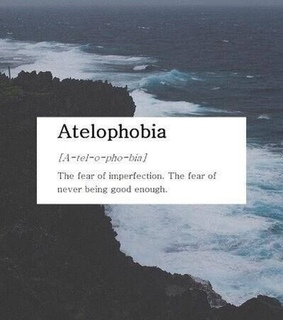 atelophobia, being and blue