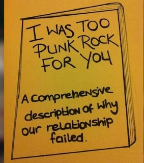 book, punk rock and quote
