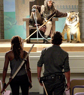 andrew lincoln, michonne and rick grimes