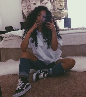 curly hair, fashion and girl