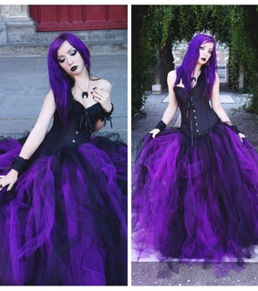 gothic style, purple dress and gothic dresses