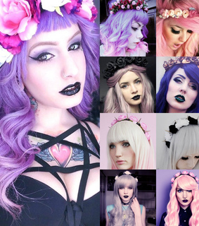 flower crown, gothic and gothic style