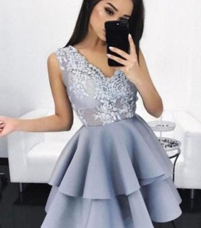 sweet 16 dress, New Arrival A-Line Homecoming and V-Neck Short Homecoming Dress