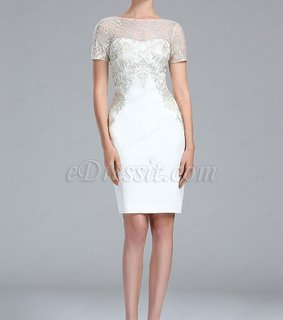 lace, mother dress and short sleeves