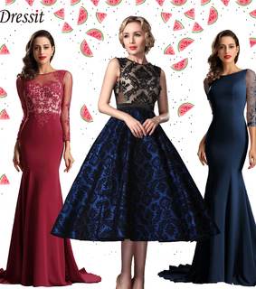 formal dresses, lace and long sleeves