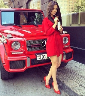 car, fashion and red beauty