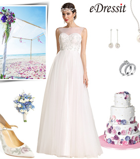 bridal gown, lace wedding dress and new