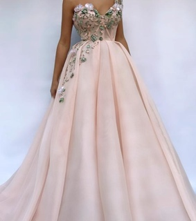 pink prom dress, Gorgeous Prom Dresses and Floral Prom Dress