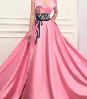 fashion, girl and pink prom dress